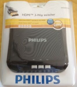 Details about Philips HDTV HDMI 3-Way Selector Sharing Switch Box for PS4  XBOX One DVD TV Game