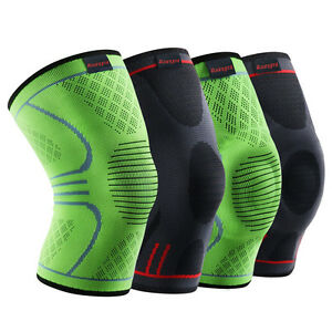 03434dfd17 Image is loading Kuangmi-Knee-Brace-Compression-Sleeve-Sports-Support-Pad-