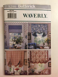 Vintage-Butterick-Pattern-5290-Waverly-Window-Shades-New-Uncut-Home-Decor