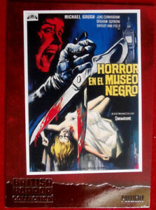 BRITISH-HORROR-COLLECTION-HORRORS-OF-THE-BLACK-MUSEUM-FOIL-Card-F7