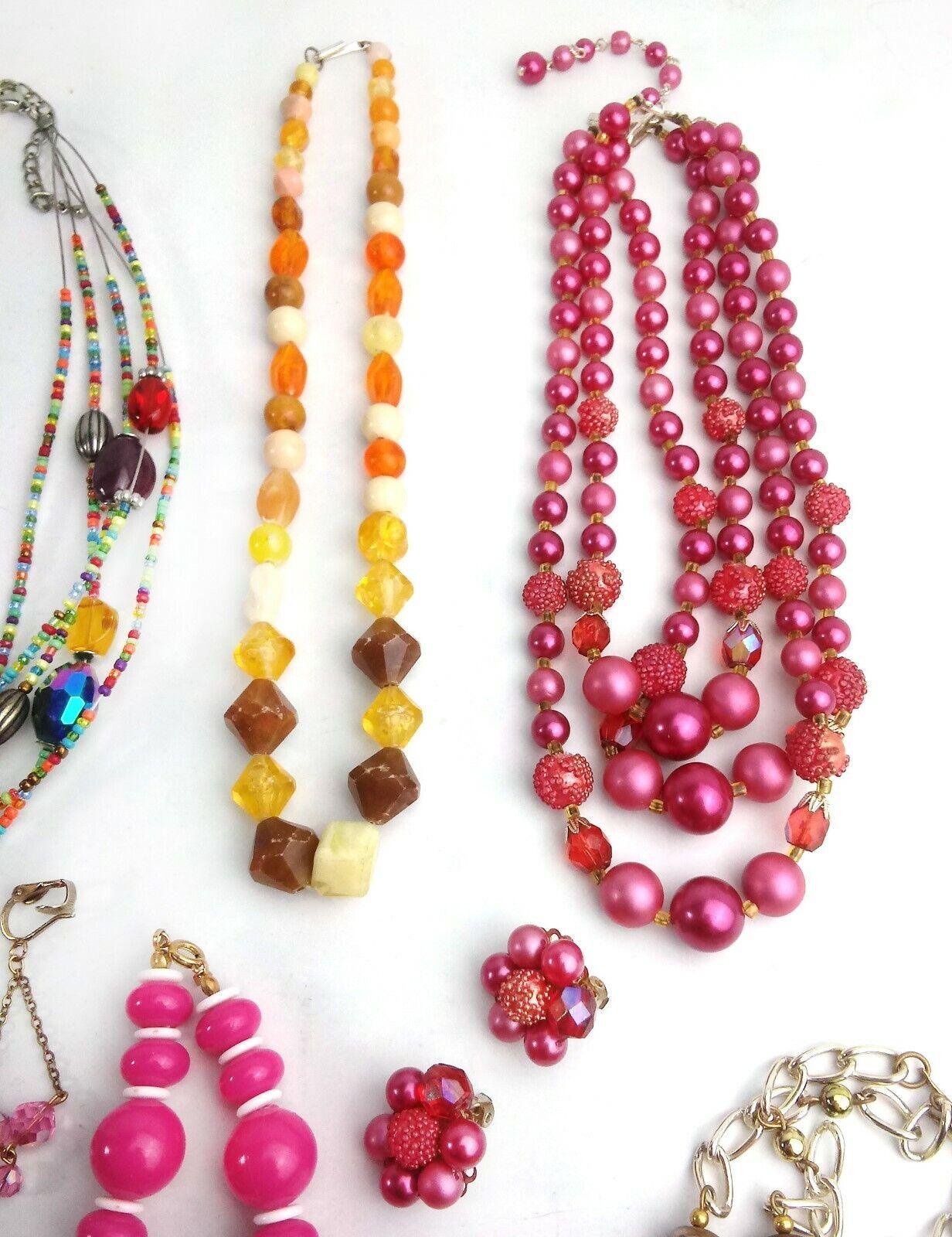Costume Jewelry Lot Necklaces Bracelet Earrings - image 4