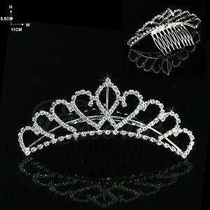 Wedding-Bridal-Comb-Tiara-Rhinestone-Crystal-Crown-Princess-Hair-Headband-New