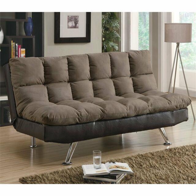 Brown Microfiber Sofa Bed 300306