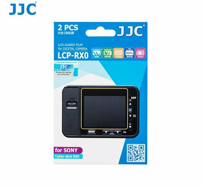 JJC LCP-RX0 LCD Guard Film Camera Screen Protector for Sony Cyber-shot RX0