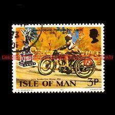 RANDLES Leslie MANX GRAND PRIX Isle of MAN 1923 Timbre Poste Moto Stamp Stempel