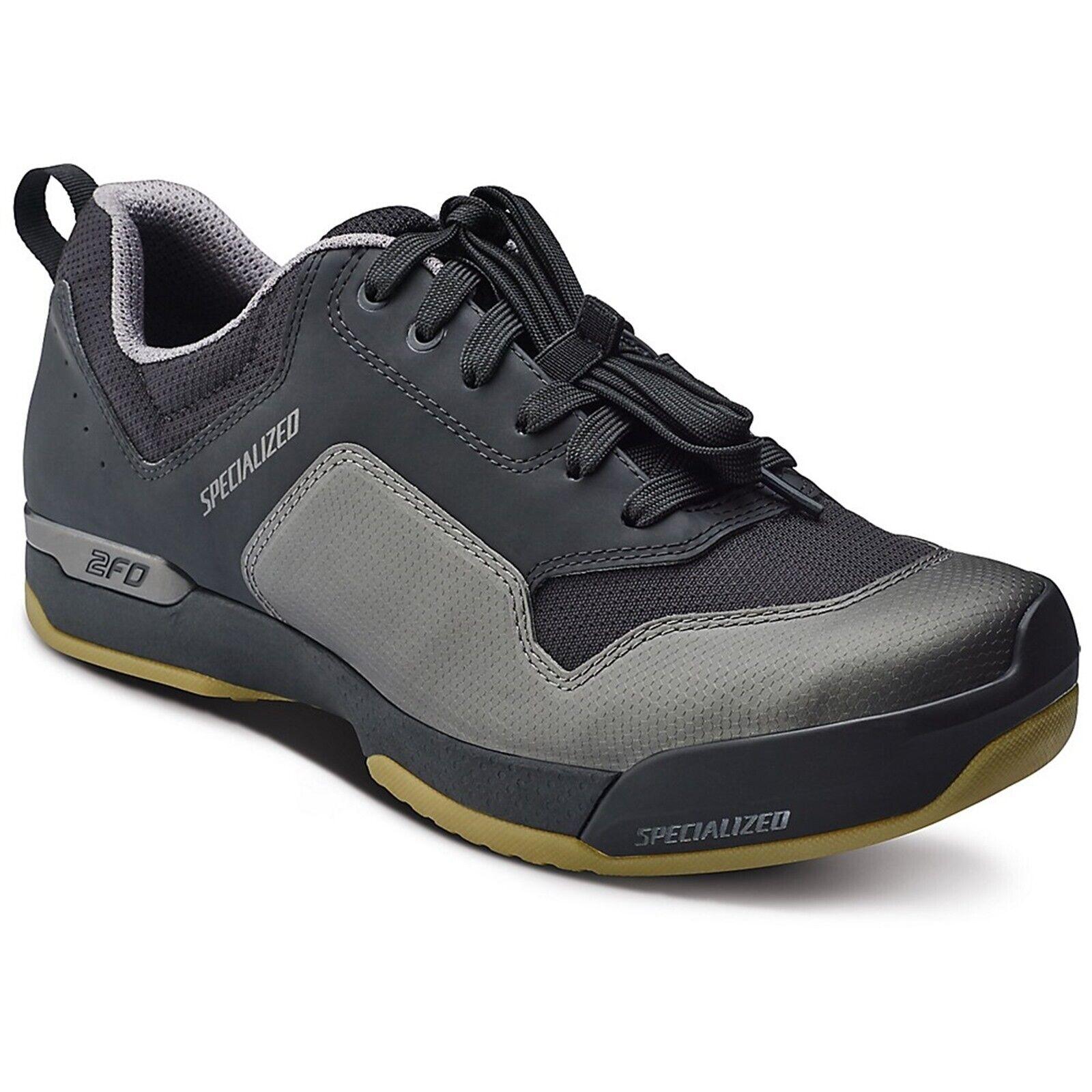 Specialized 2FO cliplite Encaje Zapatos de Bicicleta de montaña-Negro Gum-43