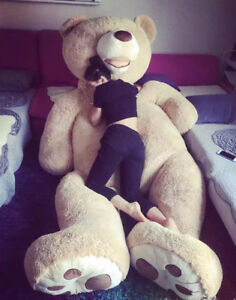 Giant-MorisMos-Teddy-Bear-with-Big-Footprints-Plush-COVER-ONLY-Light-Brown-Hot