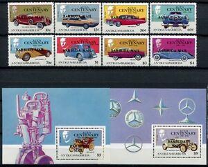 Barbuda 1987 Oldtimer Automobiles Cars 934-941 + Bloc 118-119 **-afficher Le Titre D'origine
