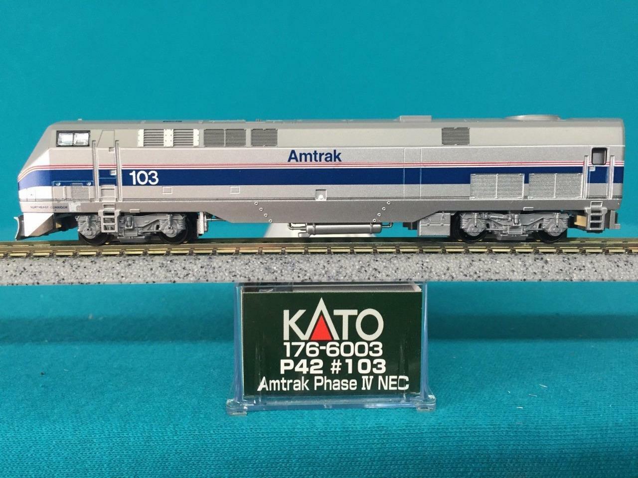 Kato N Escala  176-6003 Gemini Génesis P42 Amtrak  103 exclusivo fase IV NEC Nuevo En Caja Nuevo Viejo Stock