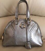 Yves Saint Lauren Muse Mini Silver Metallic Retail $995.00
