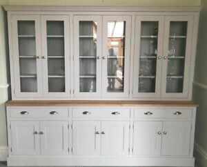 Image Is Loading New Solid Wood Hand Made 9ft Painted Kitchen