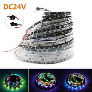 5m DC 24V WS2811 Addressable 5050 60leds RGB Full color flexible strip light