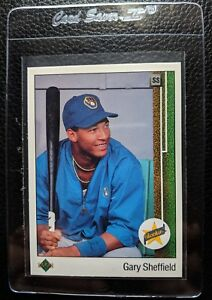 1989 UPPER DECK #13 GARY SHEFFIELD ROOKIE CARD RC MILWAUKEE BREWERS NM-MT