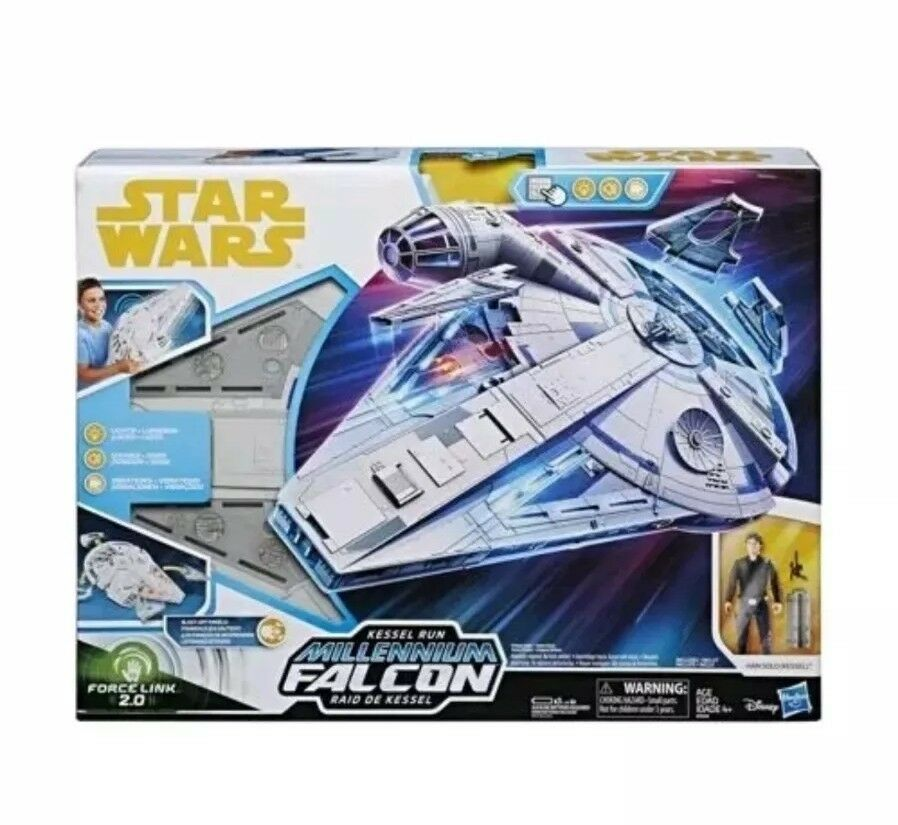 Star Wars Force Link 2.0 Kessel Run Millennium Falcon With Han Solo Figure Toy