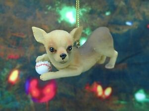 Chihuahua-with-Baseball-Christmas-Ornament