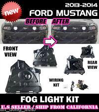 13 14 FORD MUSTANG V6 GT BOSS 302 Fog Light Lamp Kit w/Switch Wiring (CLEAR)