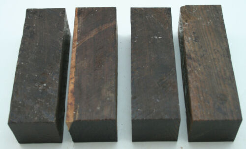 "4 African Blackwood 1 12""x 1 12""x 4 34"" Exotic Wood Turning Lumber AB1"