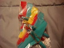 Lot of 6 Plastic Airplane Rubber Band Powered Dime Store Planes Toy