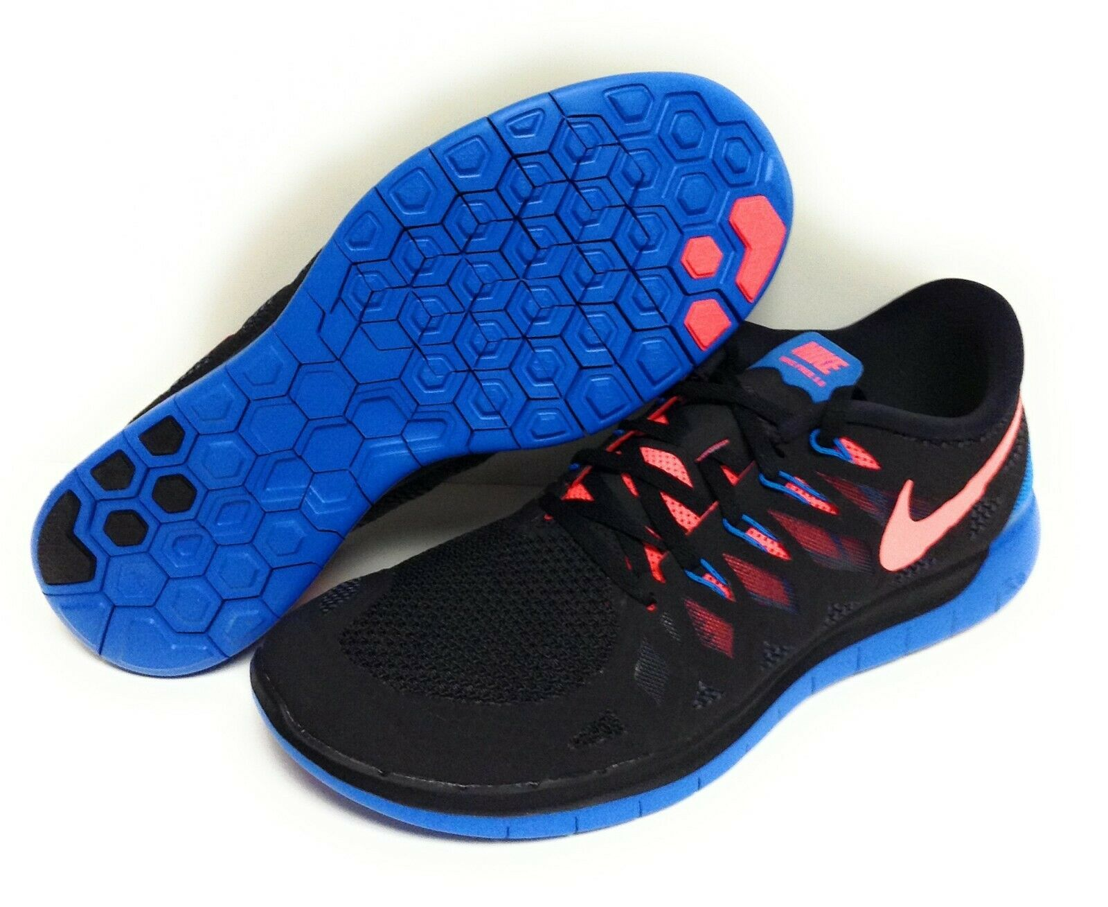 nike free 5.0 2014 Mens Nike Free 5.0 642198 002 Black Hyper Punch Blue 2014 DS ...