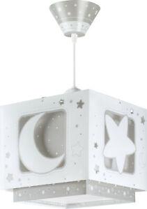 Details zu Kinderzimmer-Lampe Mädchen & Jungen 63232e Sterne Mond  Hänge-Lampe Nacht-Leucht