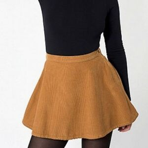 bb6ccf467c338f Image is loading American-Apparel-Mustard-Yellow-Corduroy-Skirt-Size-S