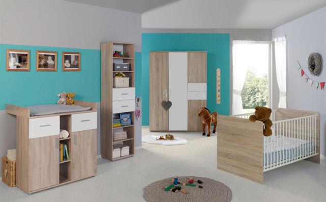 Babyzimmer Kinderzimmer komplett Set Babymatratze Komplettset ELISA in Eiche