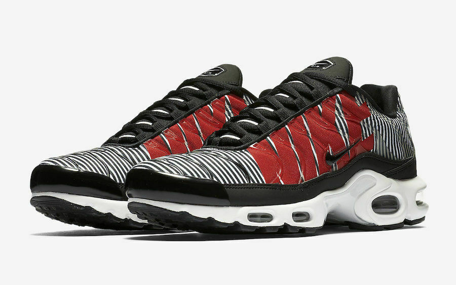 Nike Air Max Plus TN SE Running shoes Black White Red AT0040-001 Men's NEW