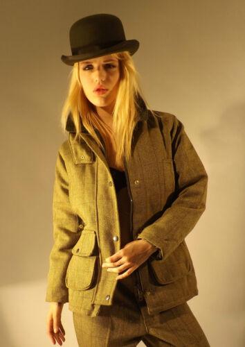 Made Monteret Krave Lysegrøn Damer In England Moleskin Tweed Jakke Nye fSawStq