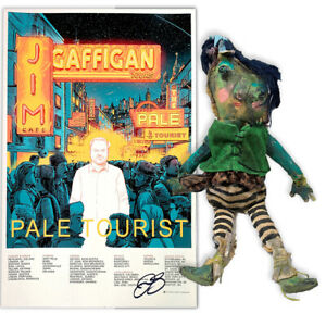 Jim-Gaffigan-Signed-Pom-Pom-Doll-and-Signed-034-Pale-Tourist-034-Poster