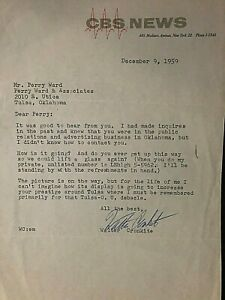 WALTER-CRONKITE-SIGNED-ORIGINAL-1959-TYPED-LETTER-ON-CBS-NEWS-LETTERHEAD