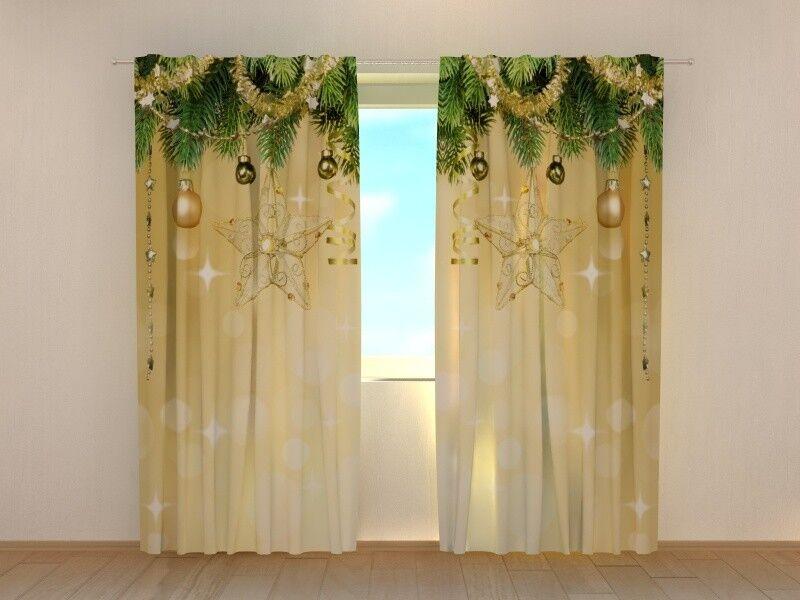 Christmas Curtain oroen Shine Wellmira Ready to Hang Winter Holiday Decor