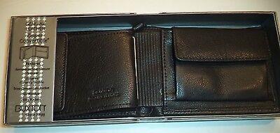 Men/'s Classic ZIPAROUND CONVERTIBLE Leather Billfold Wallet Black,Buxton