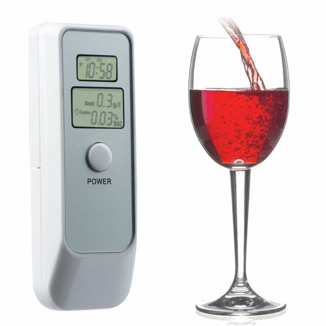 1PC Alcotester Dual LCD Digital Display Alcohol Tester Breathalyzer with Clock n