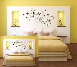 Gute Nacht oder Sweet Dreams Wandtattoo Aufkleber ...