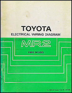 image is loading 1985-toyota-mr2-electrical-wiring-diagram-manual-schematic-