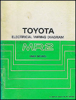 1985 Toyota MR2 Electrical Wiring Diagram Manual Schematic Book 85 on