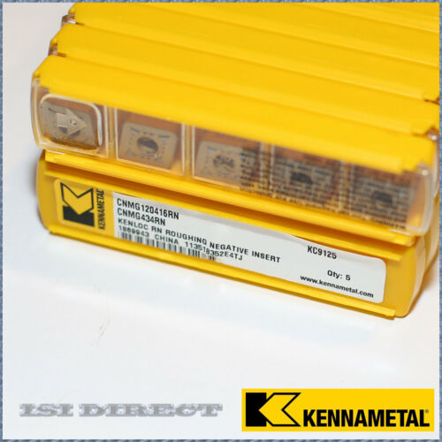 CNMG 434 RN KC9125 KENNAMETAL *** 10 INSERTS *** FACTORY PACK ***