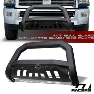 For-2009-2018-Dodge-Ram-1500-Matte-Black-AVT-Edge-Bull-Bar-Brush-Bumper-Guard