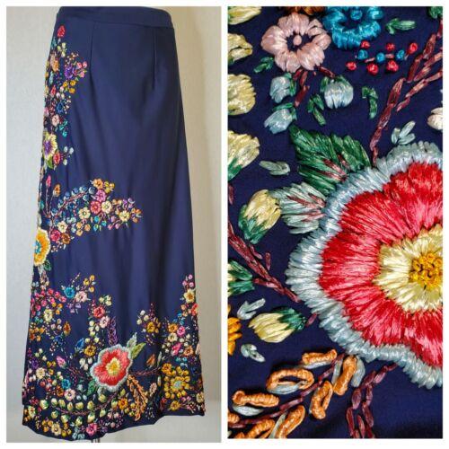 Rare Vintage Mexican Raffia Maxi Skirt Hand Made E
