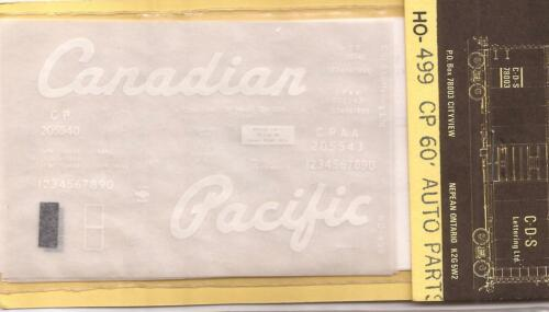 60/' Auto Parts box car DECALS of maine Div C-D-S 78003 HO Candian Pacific Int