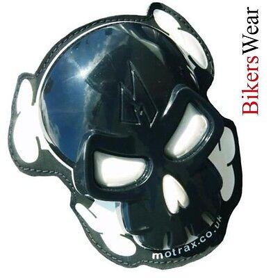 MOTRAX Skull Black Motorcycle Knee Sliders ((((((((PAIR))))))))) SALE!!!!!!!!!!!
