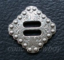 """Slotted Concho Floral Carved 1-1//2/"""" 35207-03 Tandy Leather Al Stohlman"""