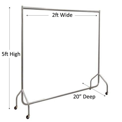SUPER Heavy Duty SILVER Clothes Rail Storage Hanging Display 2ft 3ft 4ft 5ft 6ft
