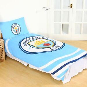 Manchester-city-fc-Impulsion-Housse-Couette-Simple-Set-Reversible-Football-Lit