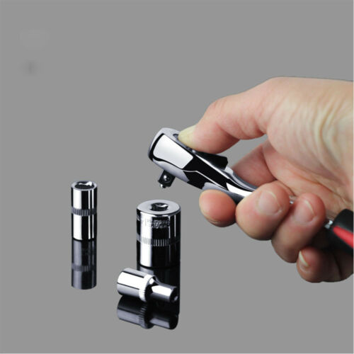 """Socket Ratchet Wrench 1//4/"""" 3//8/"""" 1//2/"""" Drive Fast Flip Pear Head 72T Tooth Tools"""