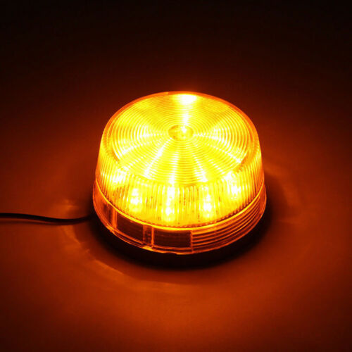 1 Set Car Truck Warning Flash Light Amber Beacon Strobe Emergency LED Lamp Top
