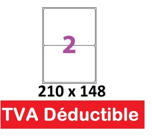 Shipping label sticker 210 x 148.5 mm a5 2 labels per a4 sheet