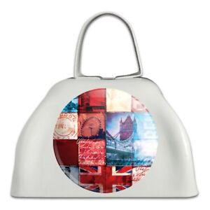 100% Vrai Londres Angleterre Grande-bretagne Pont Tile Collage Blanc Sonnaille Vache Bell Instrument-afficher Le Titre D'origine