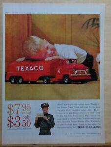 1959 magazine ad for Texaco - Buddy L Texaco Tank truck premium
