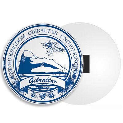 Travel Rock British Territory Holiday Fun Gift #4380 DestinationVinyl Gibraltar Fridge Magnet